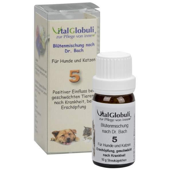 VitalGlobuli Nr. 5 Erschöpfung für Hund & Katze