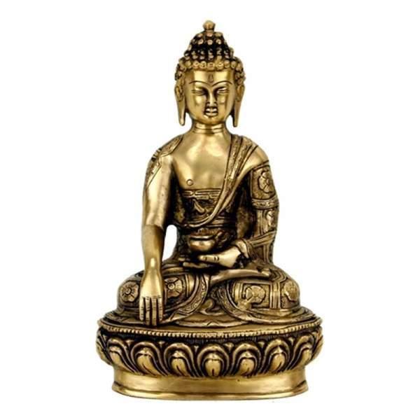 Buddha Shakyamuni Statue Messing 27 cm.