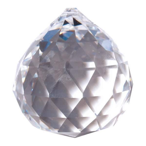 Kristall Kugel 30mm, Glas, Bleikristall > 30% PbO