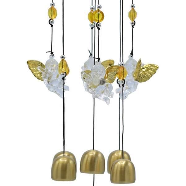 Windspiel mit fünf Engeln -- 65 cm