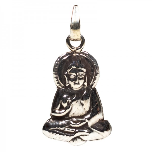 Buddhaanhänger - Silber -- 2 cm
